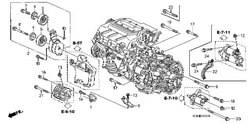 Acura online store : 2007 tl alternator bracket parts