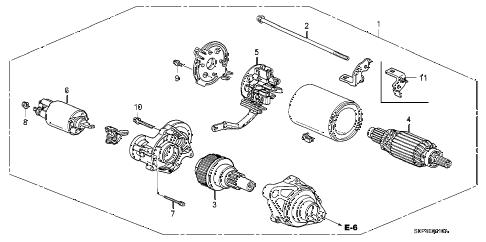 Acura online store : 2006 tl starter motor (mitsuba) parts