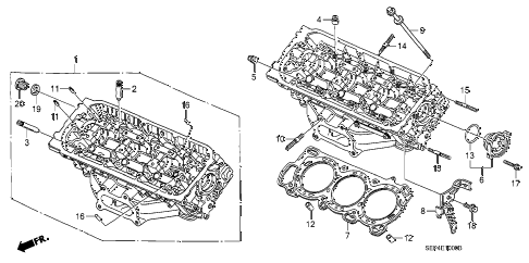 Acura online store : 2004 tl front cylinder head parts