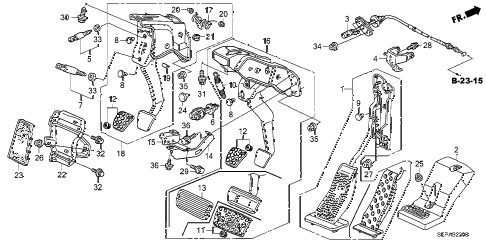 Acura online store : 2008 tl pedal parts
