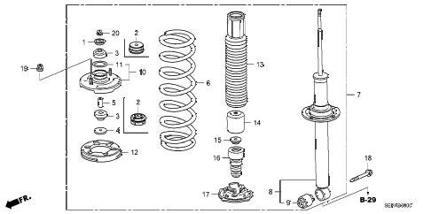 Acura online store : 2008 tl rear shock absorber parts