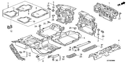 Acura online store : 2008 tl floor mat parts