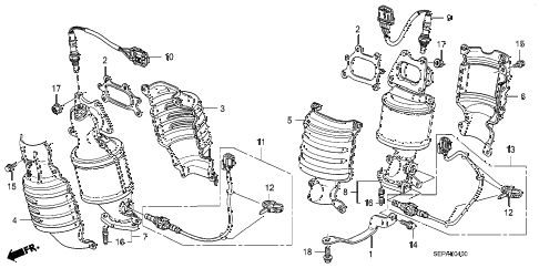 Acura online store : 2008 tl converter parts