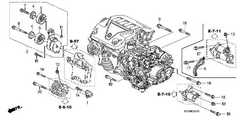 Acura online store : 2008 tl alternator bracket parts