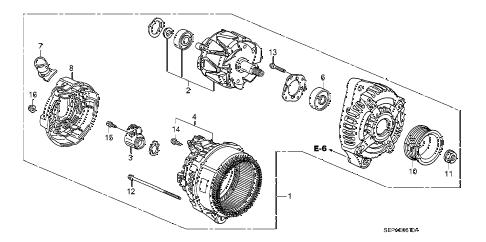 Acura online store : 2008 tl alternator (denso) parts