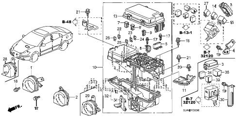 Acura online store : 2005 rl control unit (engine room) (1