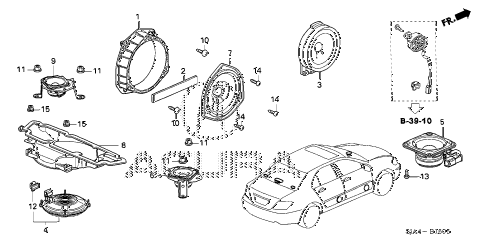 Acura online store : 2009 rl speaker parts