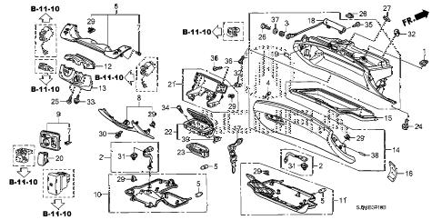 Acura online store : 2008 rl instrument panel garnish parts