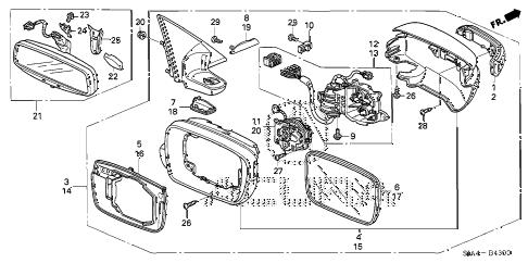 Acura online store : 2005 rl mirror parts