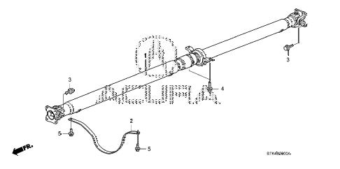 Acura online store : 2009 rdx propeller shaft parts
