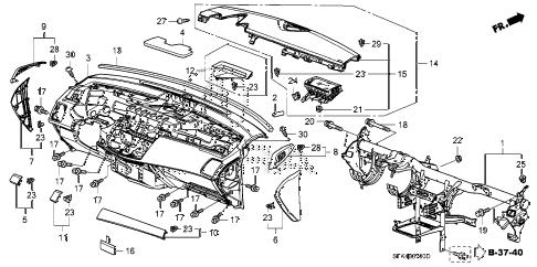 Acura online store : 2007 rdx instrument panel parts