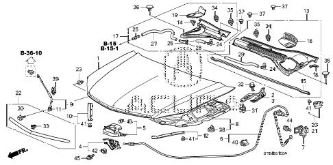 Acura online store : 2007 rdx engine hood parts
