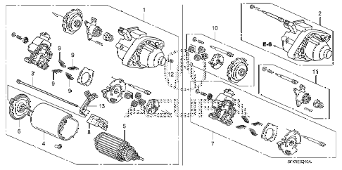 Acura online store : 2008 rdx starter motor (mitsuba) parts