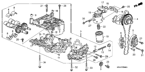 Acura online store : 2010 rdx oil pump parts