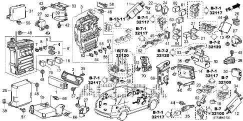 Acura online store : 2008 mdx control unit (cabin) (1) parts
