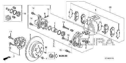 Acura online store : 2013 mdx rear brake parts