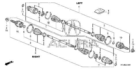 Acura online store : 2007 mdx rear driveshaft parts