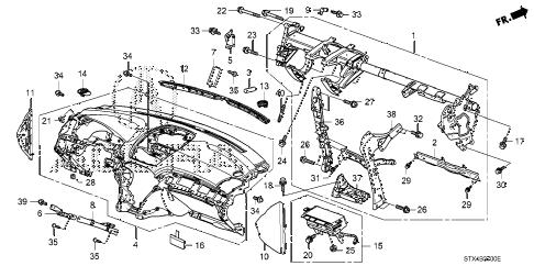 Acura online store : 2010 mdx instrument panel parts