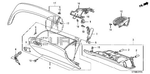 Acura online store : 2007 mdx instrument panel garnish