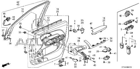 Acura online store : 2007 mdx front door lining parts