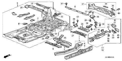 Acura online store : 2011 mdx floor panels parts