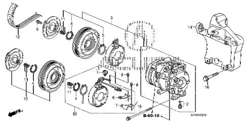 Acura online store : 2007 mdx a/c compressor parts
