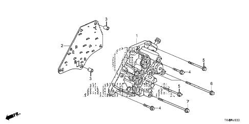 Acura online store : 2012 tl at manual valve body (6at) parts
