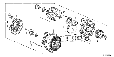 Acura online store : 2012 tl alternator (denso) parts