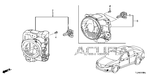 Acura online store : 2009 tsx foglight parts