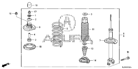 Acura online store : 2011 tsx rear shock absorber parts