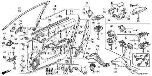Acura online store : 2012 tsx front door lining parts