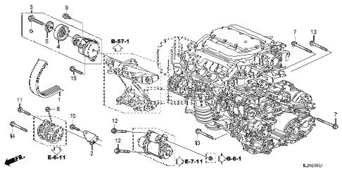 Acura online store : 2011 tsx alternator bracket