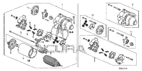Acura online store : 2011 tsx starter motor (mitsuba) parts