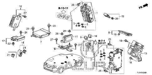 Acura online store : 2013 tsx control unit (cabin) (1) parts