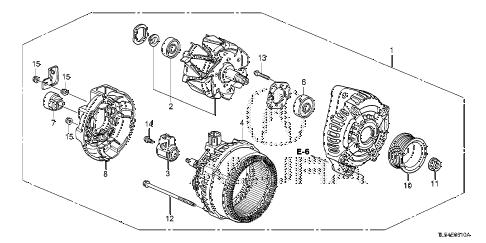 Acura online store : 2011 tsx alternator (denso) parts