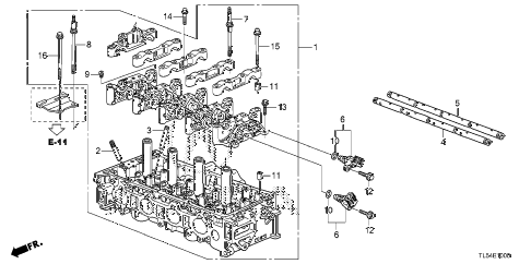 Acura online store : 2011 tsx cylinder head parts