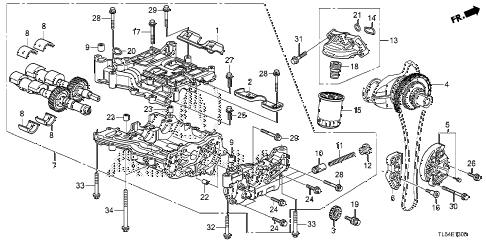 Acura online store : 2011 tsx oil pump parts