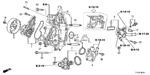 Acura online store : 2011 tsx water pump parts