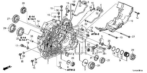 Acura online store : 2016 rdx at torque converter case