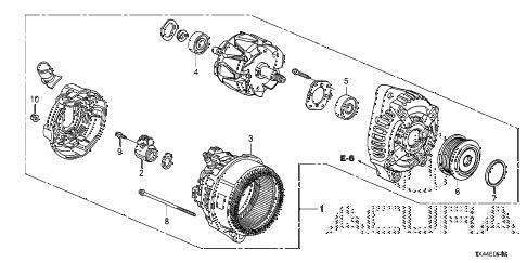 Acura online store : 2013 rdx alternator (denso) parts
