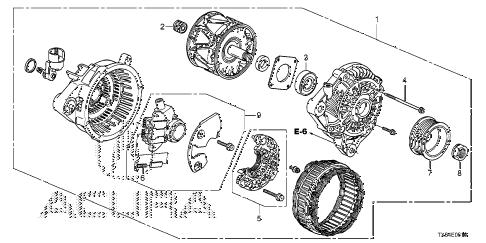 Acura online store : 2014 ilx alternator (mitsubishi) parts