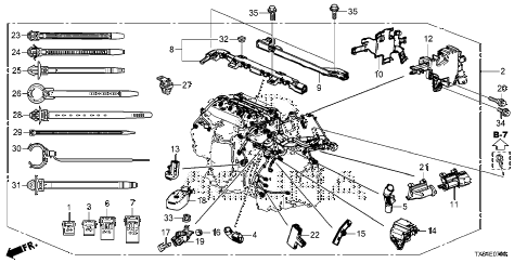 Acura online store : 2013 ilx engine wire harness (2.0l) parts