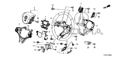 Acura online store : 2016 rlx steering wheel parts