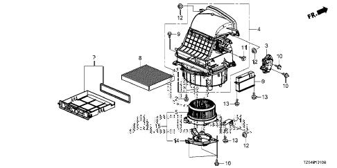 Acura online store : 2014 mdx heater blower parts