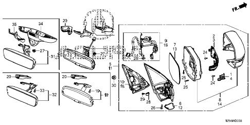 Acura online store : 2015 mdx mirror (1) parts