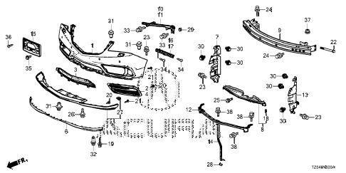 Acura online store : 2015 mdx front bumper (1) parts