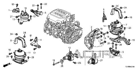 Acura online store : 2017 mdx engine mounts (1) parts