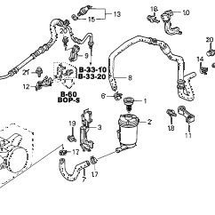 Honda Power Steering Diagram Pressure Tank Setup Online Store 2001 Civic P S Lines Parts Gx 4 Door Cvt