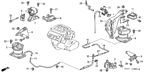 2001 Honda Accord Coupe Engine Diagram Automotive Wiring Diagrams 2000 Passat