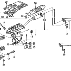Honda Odyssey Exhaust System Diagram Fujitsu Ten Wiring Toyota Online Store 1996 Pipe Parts Lx 7 Seats 3pb 5 Door 4at